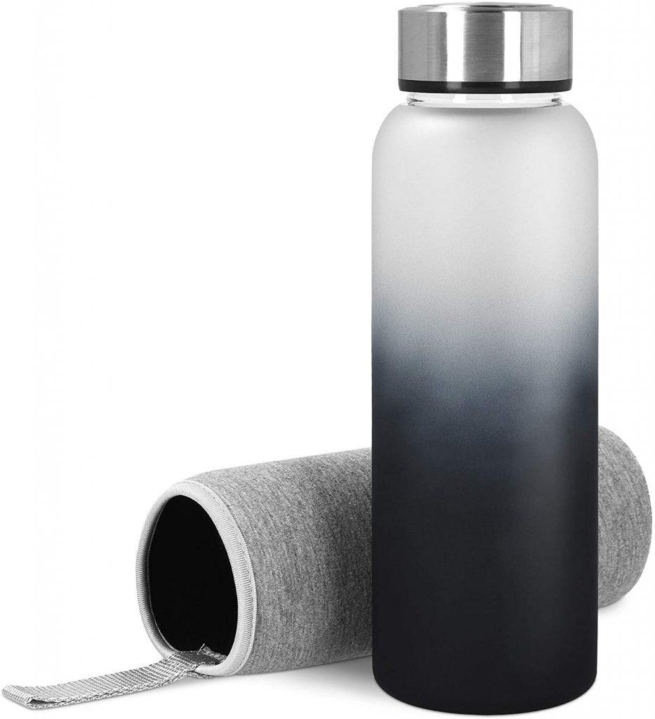 Botella de Agua de Cristal Navaris